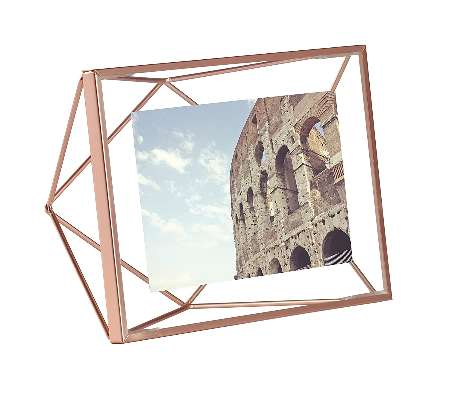 amazoncom umbra prisma picture frame 4 by 6 inch copper