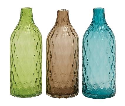 Amazon Benzara 3 Assorted Unique Styled Glass Vase Home Kitchen