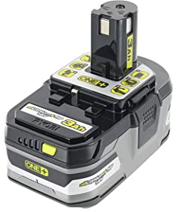 Ryobi P191 3.0 Amp Hour High Capacity Lithium Ion Battery w/ Cold Weather Performance and LED Power Indicator (Charger Not Included / Battery Only)