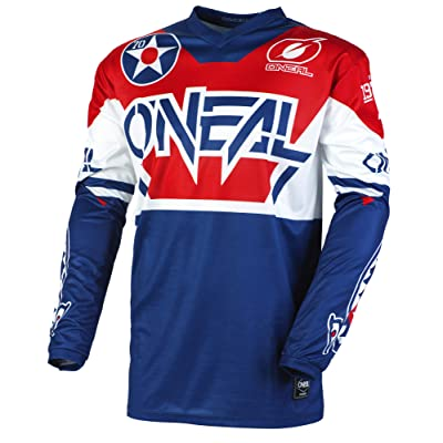 O'Neal E001-415 Element Warhawk Adult Jersey (Blue/Red, XL): Automotive