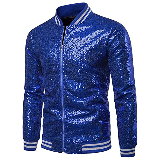 Phillip Dudley Red Gold Silver Sequins Baseball Jacket ...