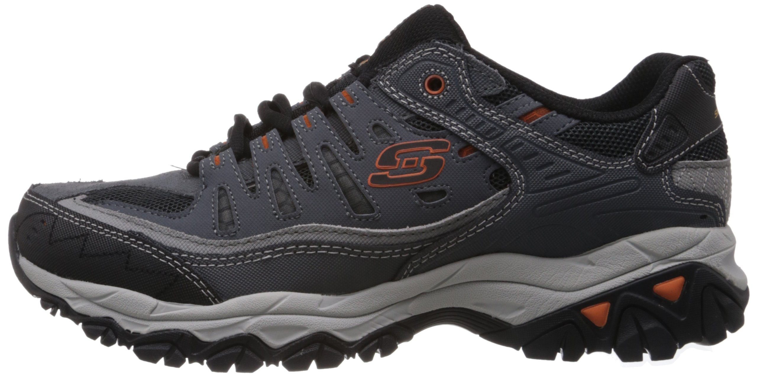 Skechers Sport Men's Afterburn Memory Foam Lace-Up Sneaker, Charcoal, 7 M US by Skechers (Image #5)