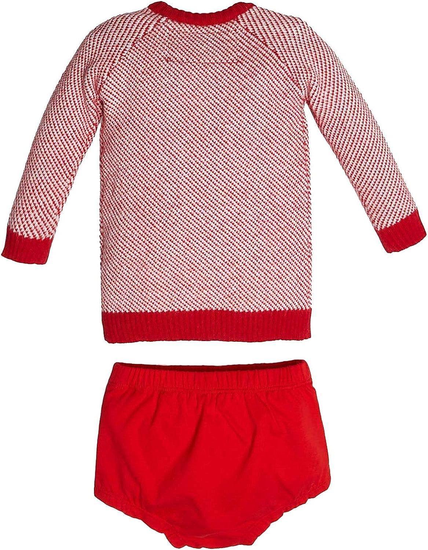 Abito a Maglioncino con Coulotte Rosso neonata Bambina Guess