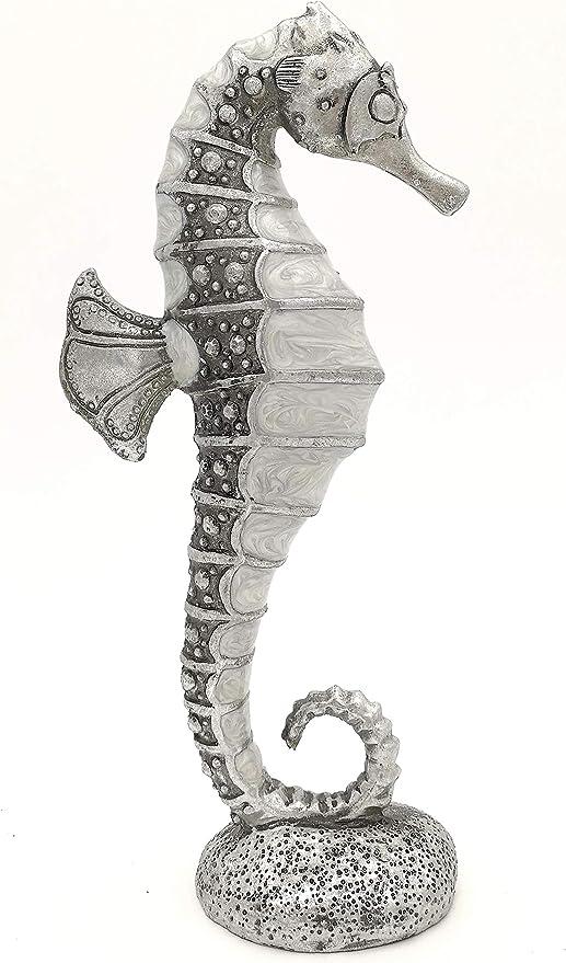 CMD Temas Escultura de Caballito de mar, Plateado con Acabado ...
