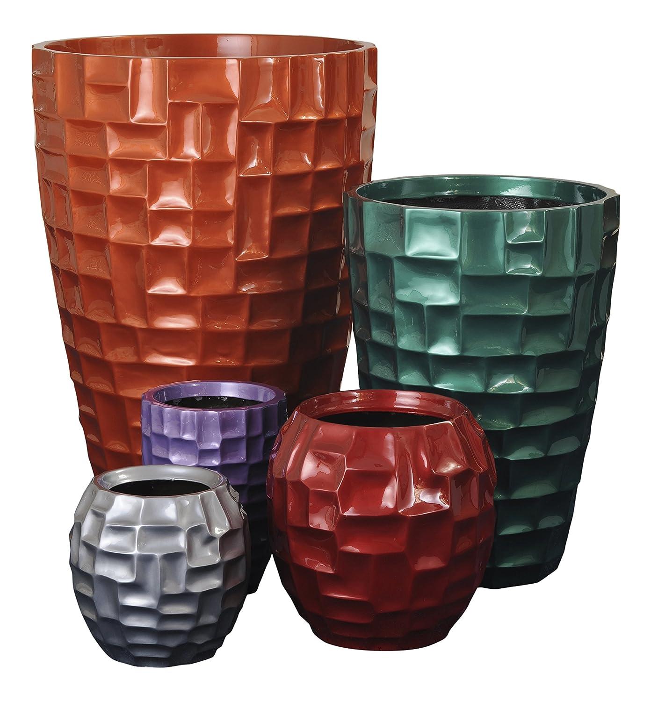 Faser Blumentopf aus Glas. Erhältlich in jede britischen Standard Farbe oder RAL Farbe, Frost, Wetter Proof, Wasser Beweis, Herstellung Faser Glas. Botschaft, die die Verkäufer für Ihr Farbe wahl