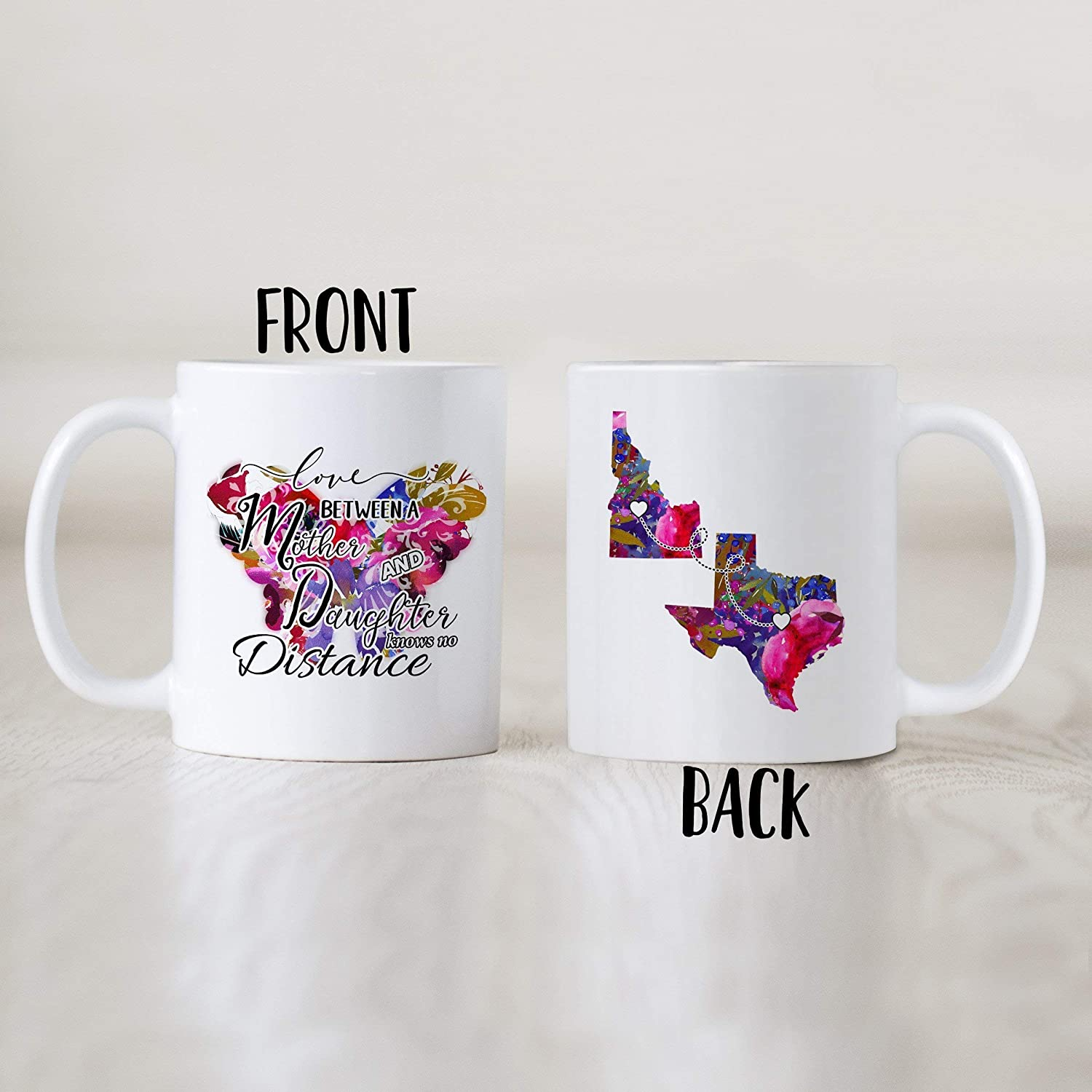 Long Distance Mother And Daughter Mug