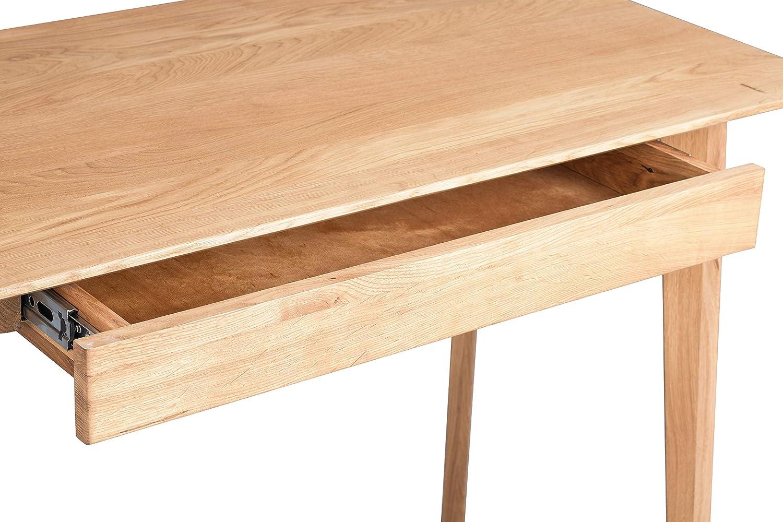 H/öhe 75cm HomeTrends4You Kevin Schreibtisch//Sekret/är Breite 110cm Tiefe 55cm braun Holz
