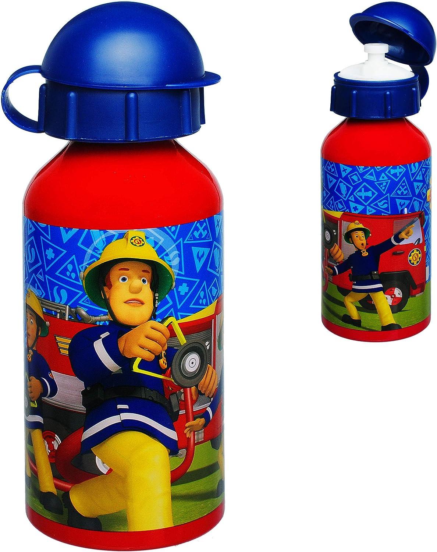 Alutrinkflasche aus Aluminium 400 ml alles-meine.de GmbH Trinkflasche // Sportflasche f/ür Kinder Aluflasche 0,45 Liter // auslaufsicher -.. Feuerwehrmann Sam Name incl