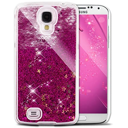 uk availability 4ba29 a0e9e Galaxy S4 Cover Samsung Galaxy S4 Cover for Girls EMAXELER 3D Creative  Design Angel Girl Flowing Liquid Floating Bling Shiny Liquid PC Hard Cover  for ...