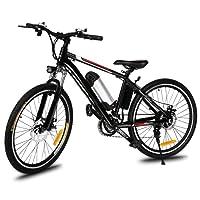 """mymotto Vélo Electrique Montagne E-bike 250W à Grande Vitesse Aluminium Alliage Cadre avec 26 Pouces Roue et Batterie Amovible au Lithium 26"""" Noir"""