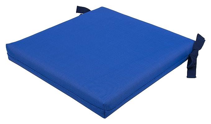 Anjosa 70-AL2 - Cojín cuadrado, 42 x 42 x 6 cm, color azul ...