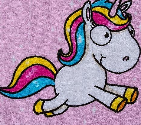 hibuy 4Stück mágico Toalla Comic Unicornio, Magic Towel, manopla para niños, diseños surtidos