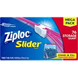 Ziploc Slider Storage Bag Quart, 76 Count (Pack of 9)
