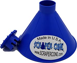 SCRAPER CONE️ The Original Ice Scraper, Snow Removal Made in The USA Magical Frost Removal Funnel Shaped Cleaning Tool Car Windshield Deicer Magic Scrapers Instascrape round snow shovel brush