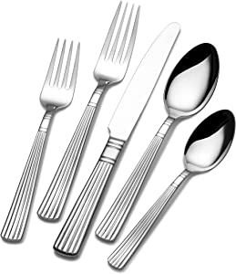 Wallace 5092479 Antique Baroque 5-Piece Stainless Steel Place Setting, Service for 1
