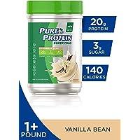 Pure Protein Vegan Plant Based Hemp and Pea Protein Powder, Gluten Free, Vanilla Bean, 1.51 lbs