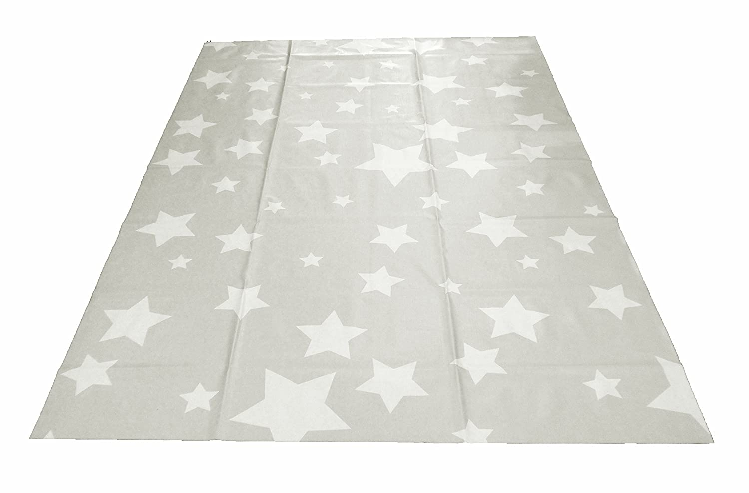 Large Highchair No Mess Splash Mat/Table Protector - Light Grey Stars Baby Best Buys