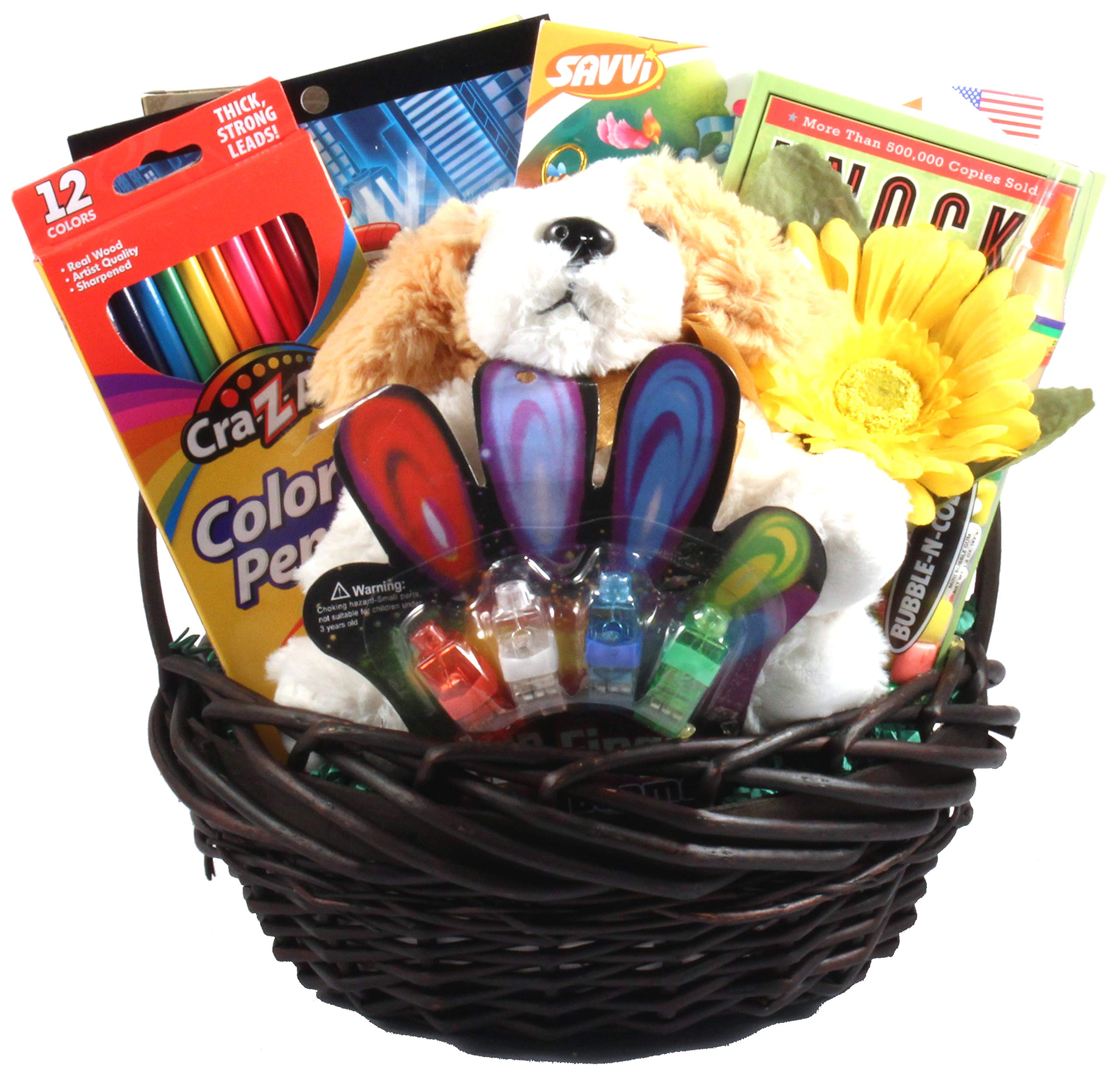 Kids Only - An Activity Gift Basket For Just For Children With Activities, A Plush Friend And A Sweet Treat - Will Make Any Child Feel Special by Gift Basket Village