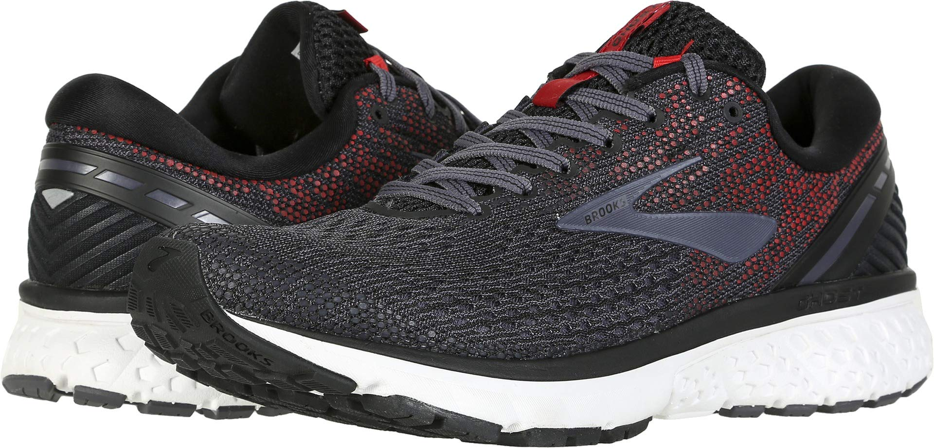 Brooks Men's Ghost 11 Black/Graystone/Cherry 7 D US by Brooks (Image #3)