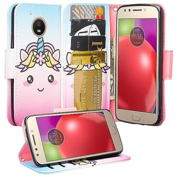 promo code c4a41 dd0a0 Motorola Moto E4 Case, Moto E4 Wallet Case, Wrist Strap Flip Folio  [Kickstand] Pu Leather Wallet Case with ID&Credit Card Slot For Moto E4 -  (Cute ...