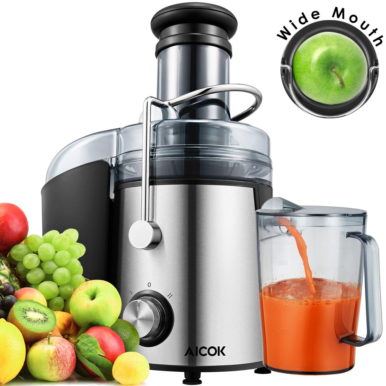 Aicok Licuadora para fruta verdura y zumos Gran Boca mm con W