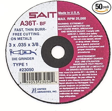 """Cut-off Wheels Metal Super Thin 4/""""x1//16/""""x3//8/"""" 5 pack"""