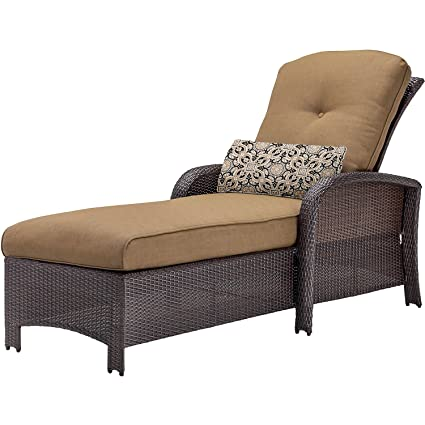 Amazon Com Cambridge Corchs Tan Corolla Chaise Lounge Garden