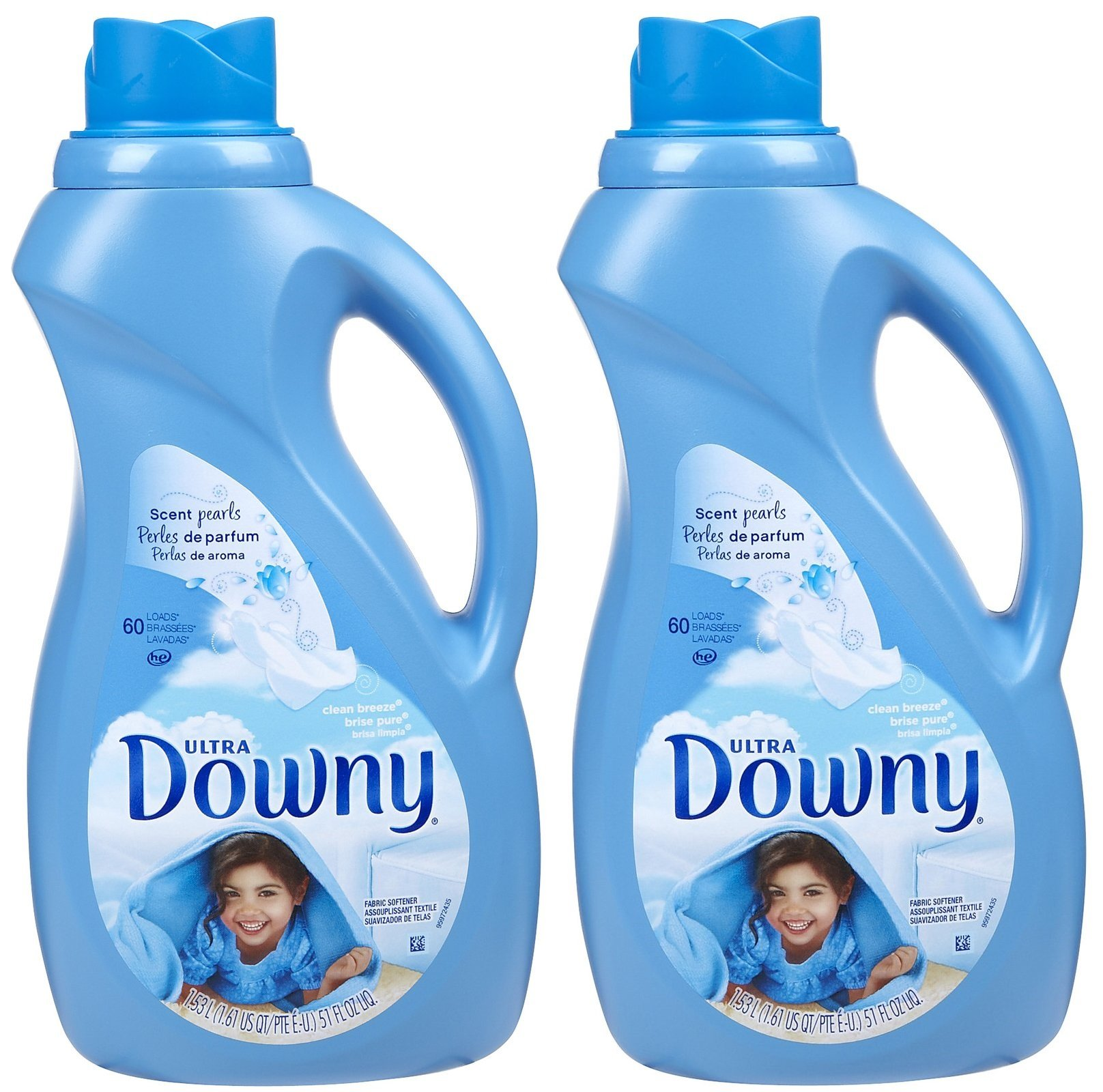 Ultra Downy 39300 27 Oz Downy Ultra Fabric Softener Liquid Clean Breeze Scent by Downy (Image #1)
