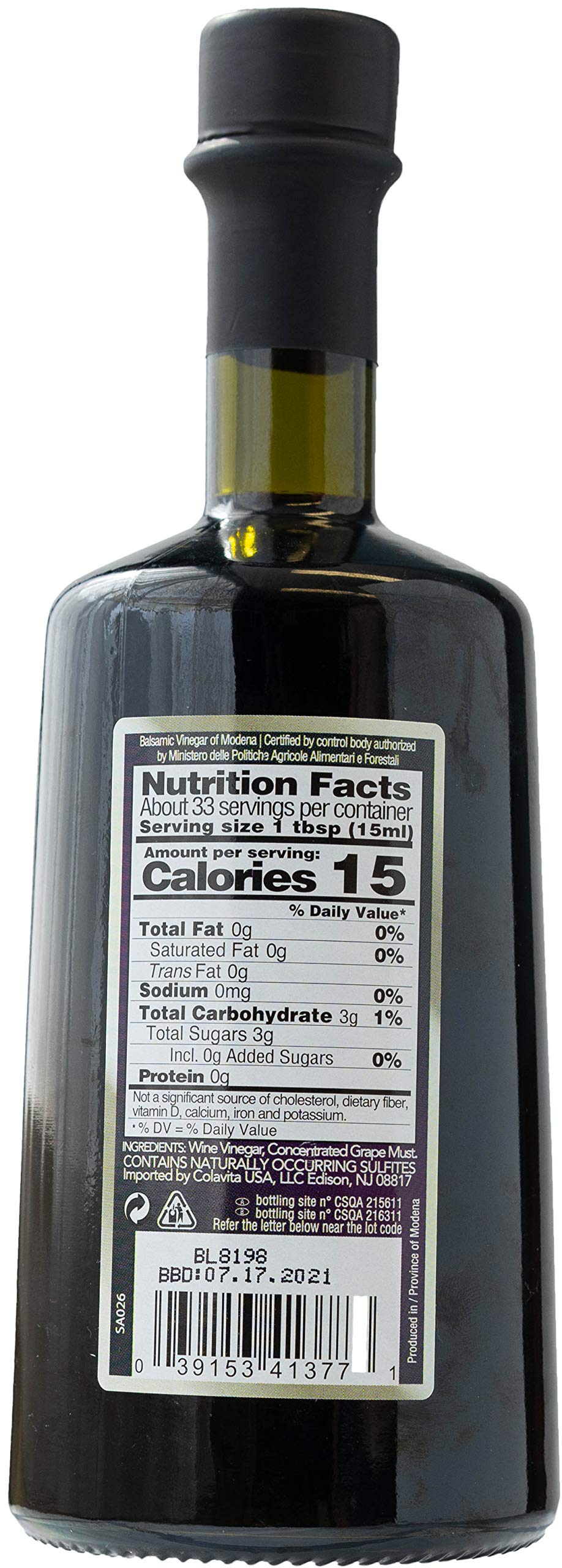 Santa Ninfa Balsamic Vinegar of Modena IGP, 17 Fl Oz Glass Bottle, (Pack of 2) 2 Ships in Amazon Certified Frustration-Free Packaging Pack of two Balsamic Vinegar of Modena, Italy, 17 oz Glass Bottles This Balsamic vinegar is matured in wooden casks to achieve a complex flavor balancing sweetness and acidity.