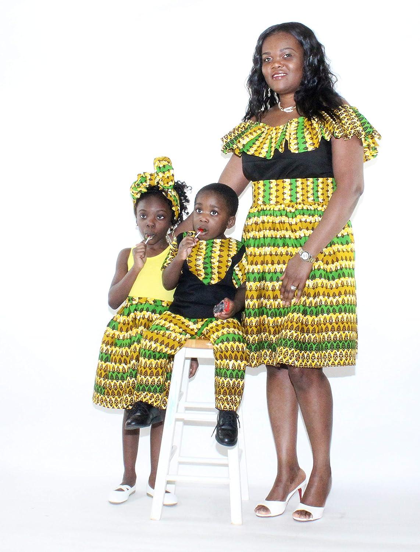 Mawusi Clothing African Print Ankara Boys Juliana Pant Set