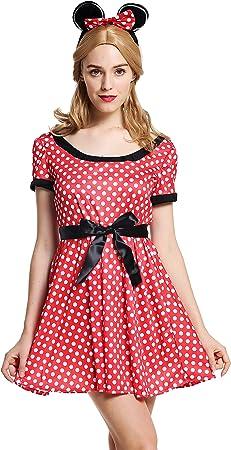 dressmeup - W-0136-M/L Disfraz Mujer Feminino ratón Rojo con ...