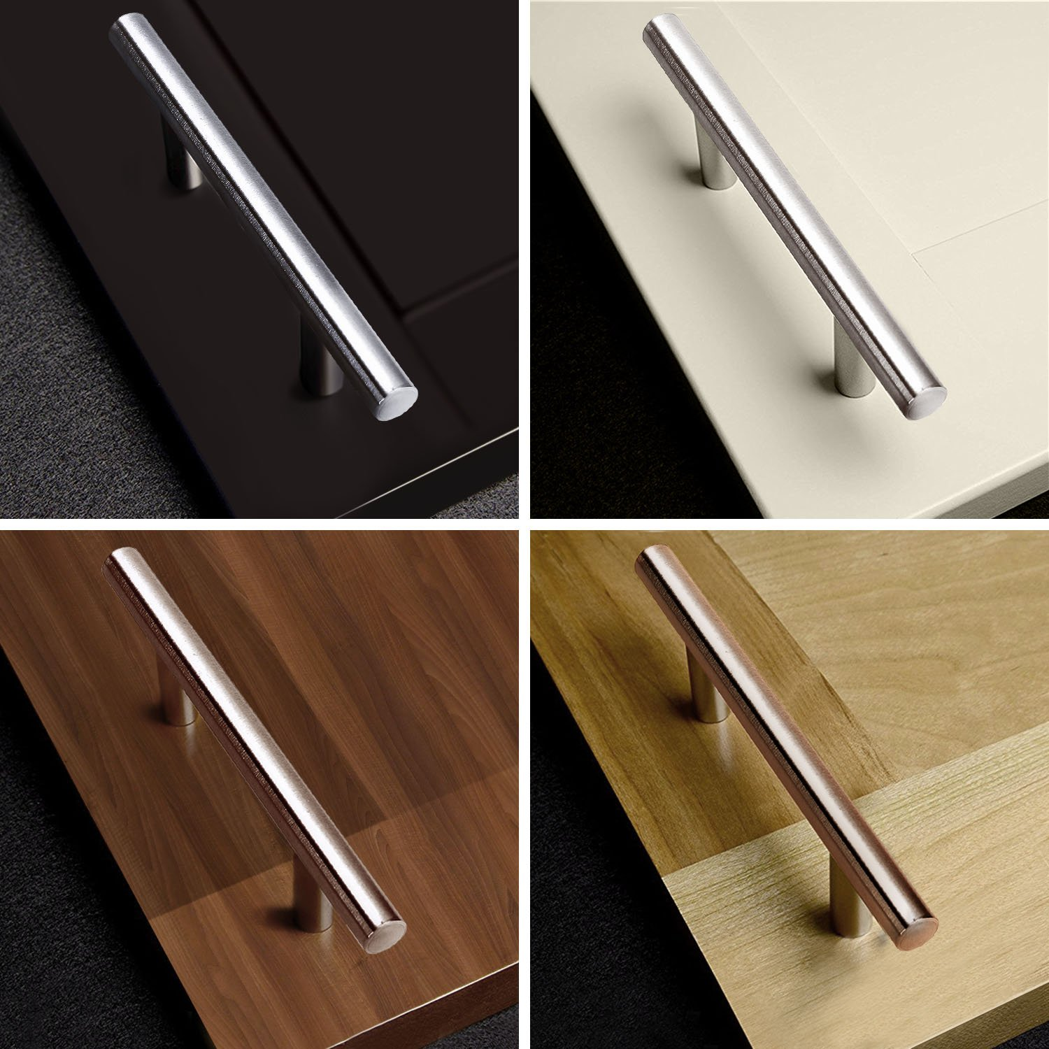 Flexzion T Bar Handle Pull Knobs 24'' (15'' Hole Center) (25 Pack) Hardware Set Stainless Steel Kitchen Door Cabinet Drawer Furniture Appliance Euro Style with Mounting Screws by Flexzion (Image #4)