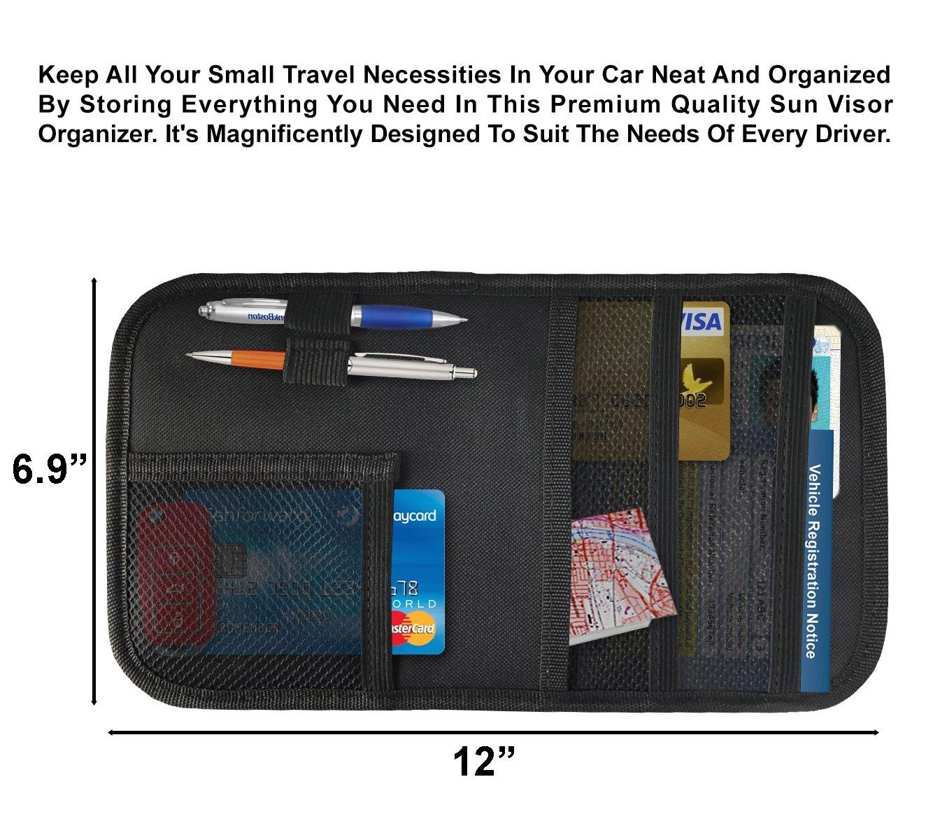 Auto Interior Accessories Pocket Organizer Interior Accessories Pocket Organizer 2724669060998 Lebogner Car Sun Visor Organizer Personal Belonging Storage Pouch Organizer Registration And Document Holder