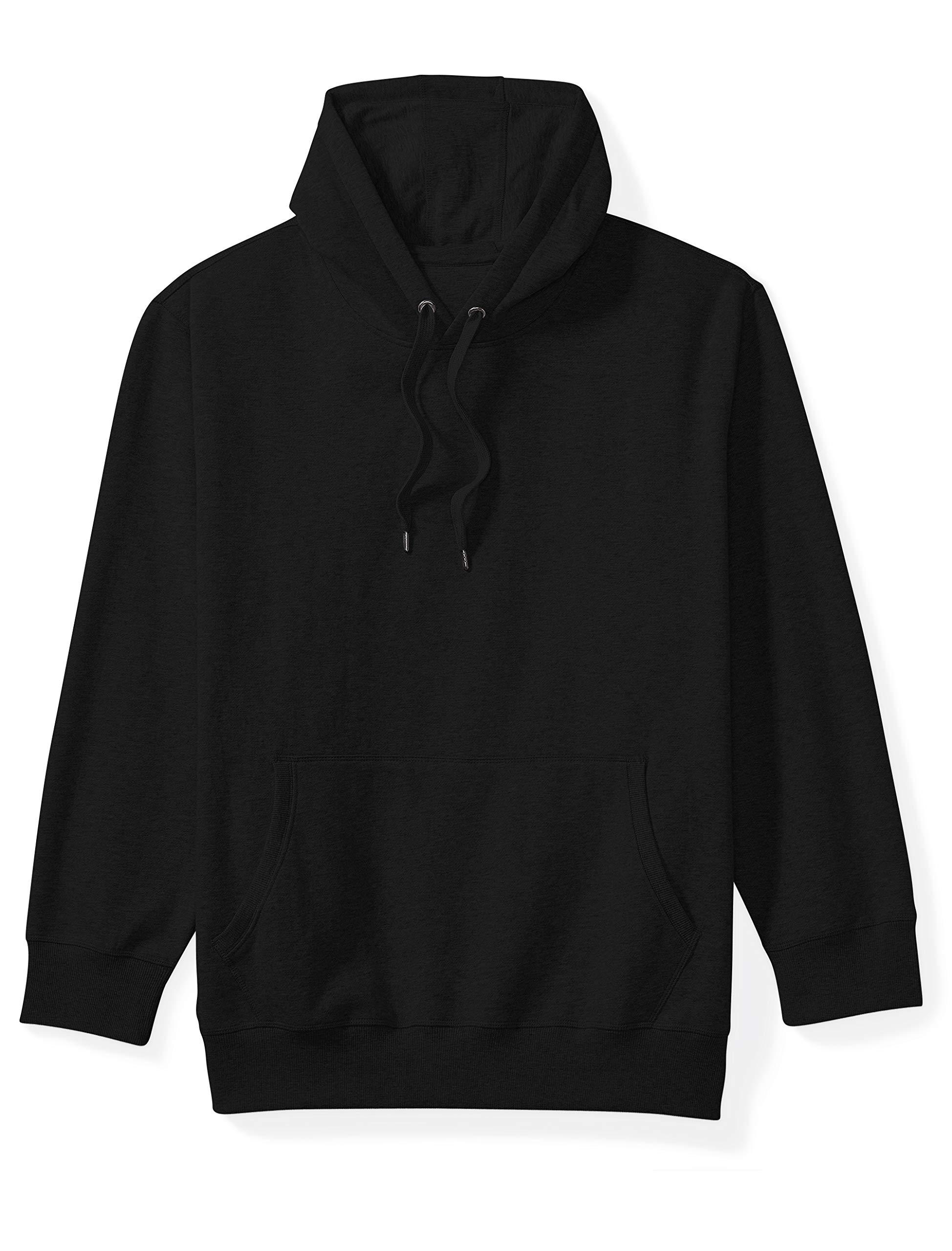 Amazon Essentials Men's Big and Tall Hooded Fleece Sweatshirt fit by DXL, Black, 5XLT by Amazon Essentials