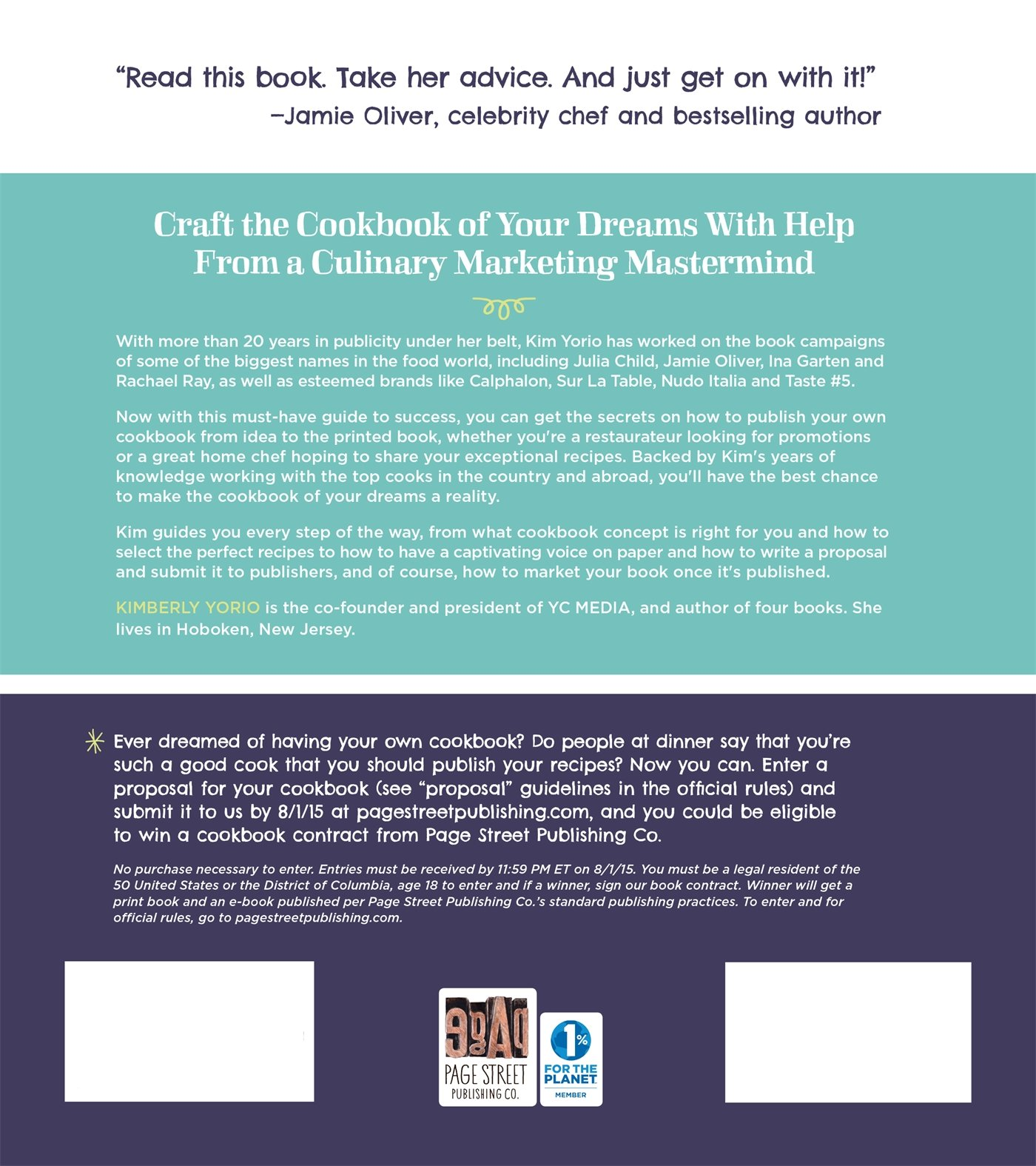 Share Your Passion For Cooking From Idea To Published Book To Marketing  It Like A Bestseller: Kim Yorio, Jamie Oliver: 9781624140600: Amazon:  Books