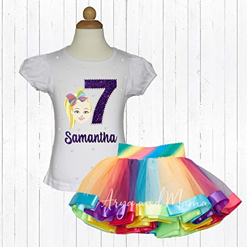 422b0116f4e33 Amazon.com: JoJo Siwa Birthday outfit with matching rainbow tutu ...