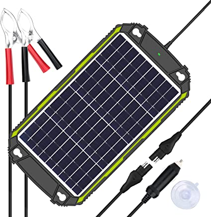 Amazon Com Sun Energise Waterproof 12v 10w Solar Battery Charger Pro Built In Mppt Charge Controller 3 Stages Charging 10 Watts Solar Panel Trickle Battery Maintainer For Car Motorcycle Boat Atv