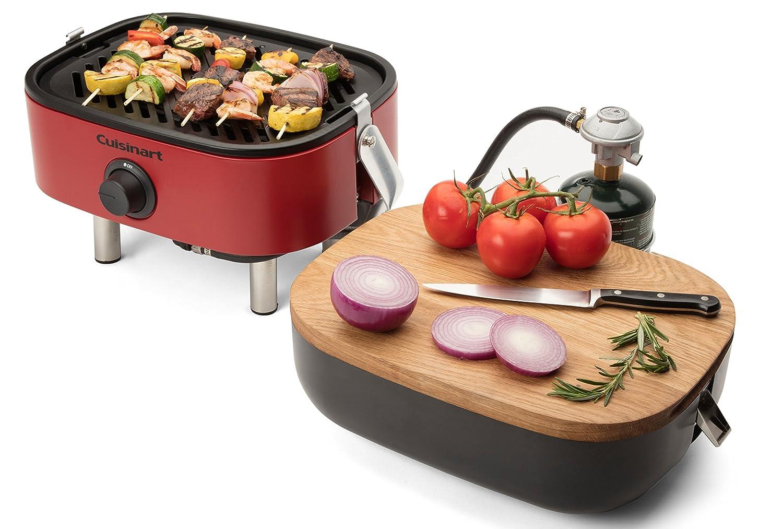 Cuisinart CGG-750 венчурный портативный газовый гриль, красный