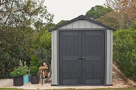 Keter Oakland 757 Cobertizo abschließbar Caseta para jardín 8400 L Winterfest: Amazon.es: Jardín