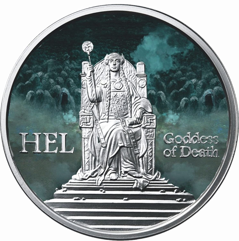 Valkyrie 1 oz Copper BU Round USA Made Bullion Coin Norse Gods Series Freya