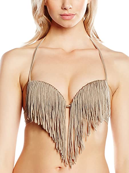 GUESS Sujetador de Bikini Super Push Up Camel ES 85C (US 32B)