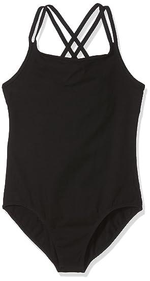 SANSHA Y1559C STEFANI Vêtements de danse Justaucorps fines bretelles pour  Fille - Noir - EU  2c26e65a997