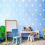 dise/ño de lunares 100 puntos adhesivos para pared de habitaci/ón infantil Yabaduu color negro y gris