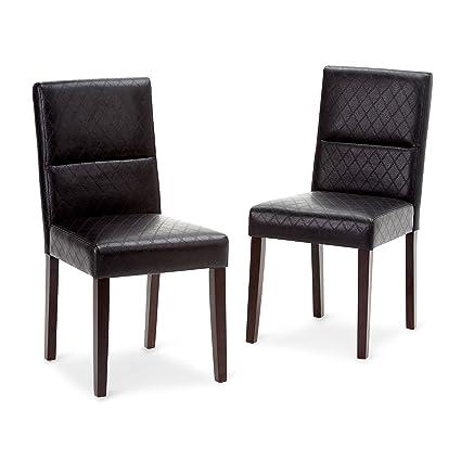 bd42fefc37 Amazon.com: Simpli Home AXCDCHR-005-BL Ashford Parson Dining Chair ...