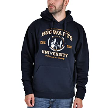 Harry Potter - Sudadera con capucha - Magic University - Azul: Amazon.es: Deportes y aire libre