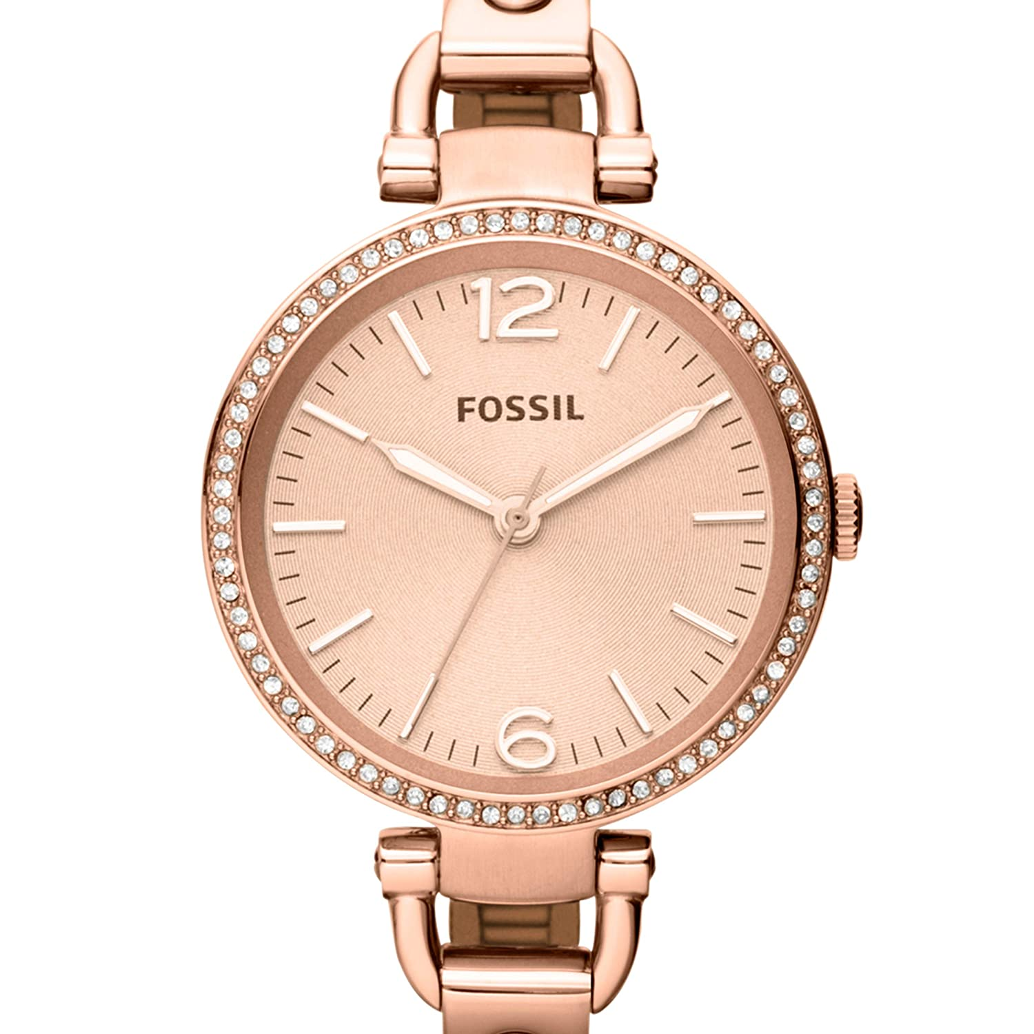 a7aec542c Amazon.com: Fossil Women's Georgia Quartz Stainless Steel Dress Watch,  Color: Rose Gold (Model: ES3226): Fossil: Watches