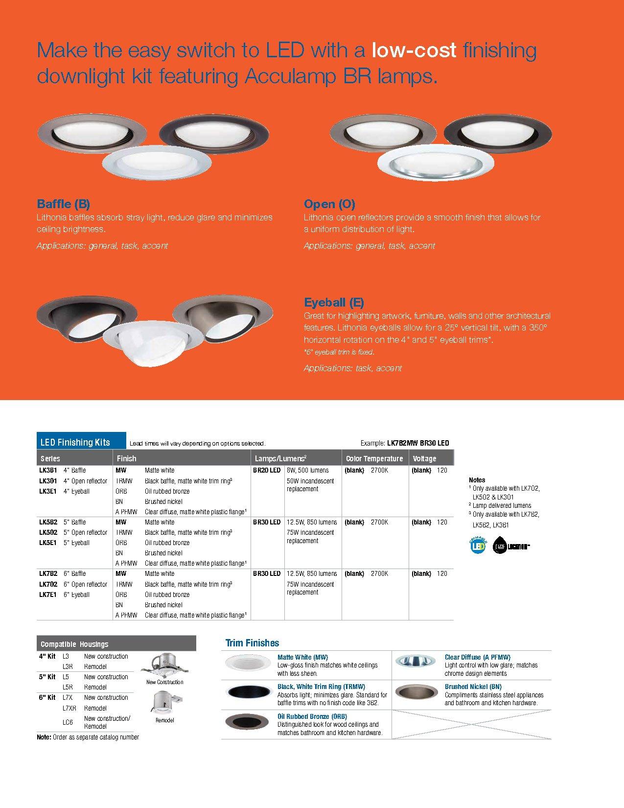Lithonia Lighting LK5GMW LED M4 Gimbal Kit with Integrated Led, White, 5 inch by Lithonia Lighting (Image #4)