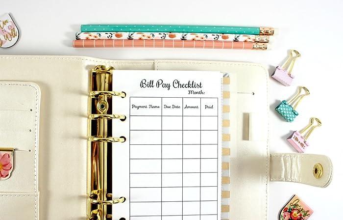 amazon com personal bill pay checklist filofax personal budget