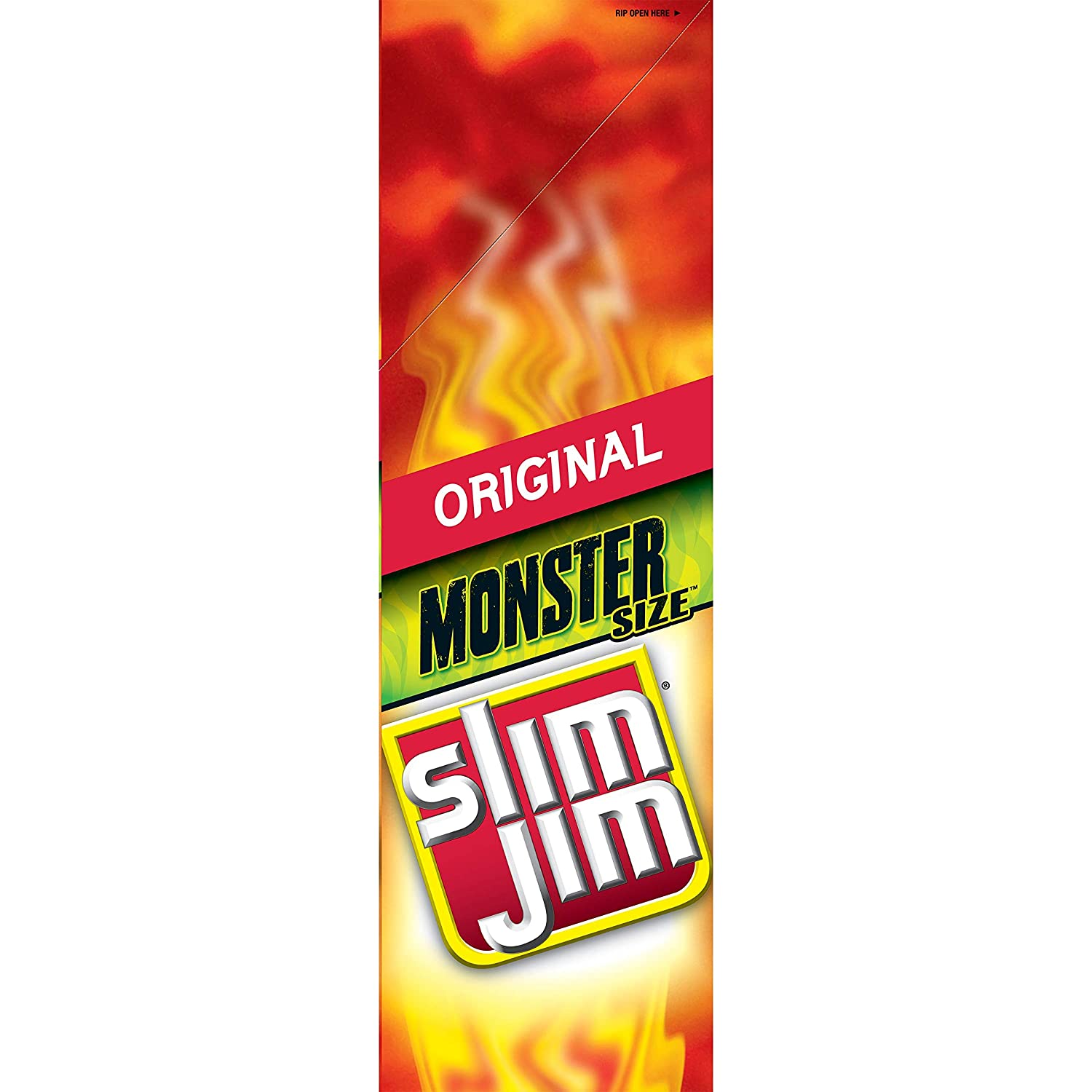 Slim Jim Monster Smoked Meat Sticks, Original, Packed with Protein, 1.94-Ounce, 18 Count