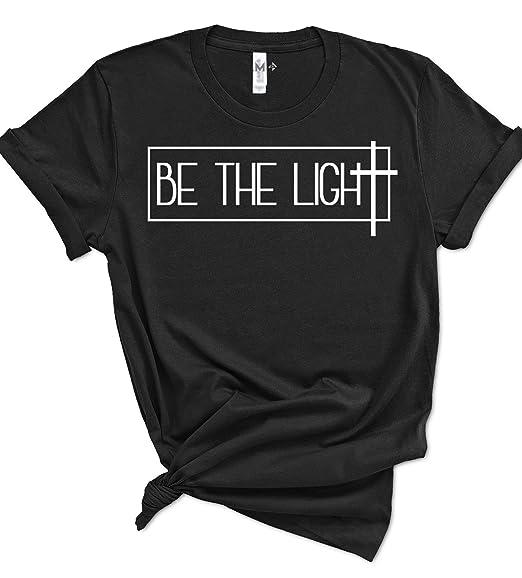 49ca886c6 Psalm Life Be The Light Christian T-Shirt - Unisex Religious Faith Tee  (Small
